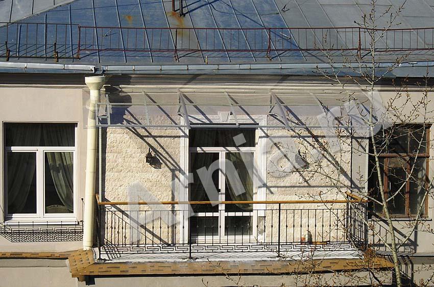 Козырек над балконом последнего этажа инструкция по установк.