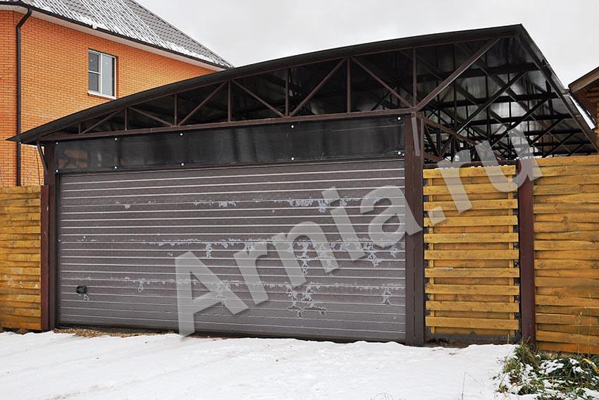 Забор с автоматическими воротами